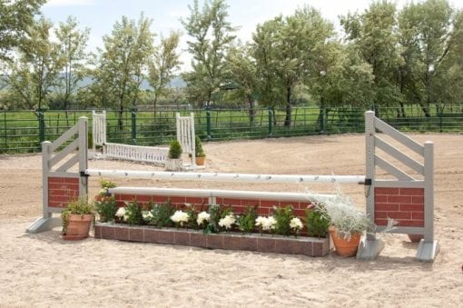 Equestrian jump red brick